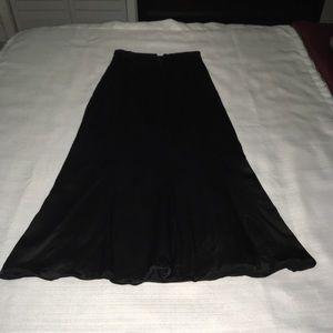 Ann Taylor Long Black Skirt